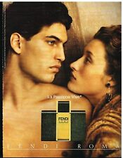 Publicité Advertising 1990 Parfum Fendi Uomo