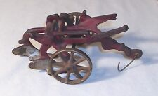 ARCADE 1930s OLIVER RED TWO BLADE FARM PLOW CAST IRON TOY