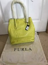Brand New Furla Lime Green Handbag With Labels And Bag Cover