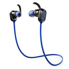 Anker SoundBuds In-Ear Earbuds, Magnetic Wireless Bluetooth Headphones - Blue
