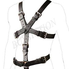 Men Sexy Leather Chest Full Body Harness Gay Interest BodysuitClub Wear Costumes