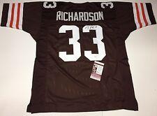 Trent Richardson Signed Cleveland Browns Football Jersey JSA I60260