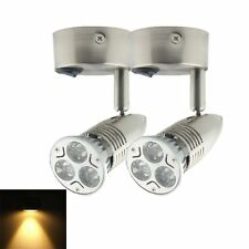 2X 12V Warm White LED Bed Side Light Reading Wall Cabinet  Bedside Lamp Switch