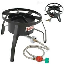 Outdoor Propane Cooker Gas Burner Camping Portable High Pressure Stove Hunt Camp