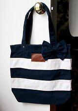 Abercrombie & Fitch A&F Striped Tote / Book Bag / Purse