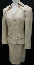 Christian Dior Eggshell Brocade Double Breasted Silk Jacket and Skirt Suit Set 8