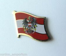 AUSTRIA AUSTRIAN NATIONAL COUNTRY WORLD FLAG LAPEL PIN BADGE 1 INCH