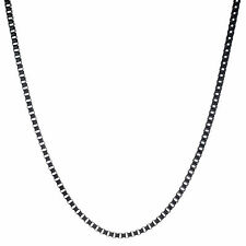 """Stainless Steel 3MM Black IP 24"""" Chain Necklace"""