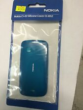 Nokia C5-03 Fitted Soft Cover in Blue CC-1012. Brand New in Original Packaging.