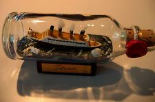 Ship in a Bottle TITANIC SINKING Made in Hamburg! New Item. BARGAIN BASEMENT
