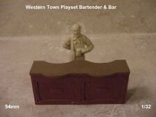 54mm Conte BARTENDER & BAR Marx Western Town soft plastic conversion character