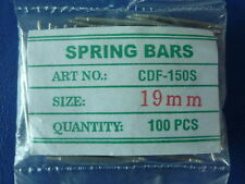 100 PIECES STAINLESS STEEL WATCH BARCELET SPRING BAR 1.5MM * 19 MM