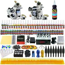 Solong Tattoo Complet Kit de Tatouage 2 Machine à Tatouer 54 Encre Ink TK252