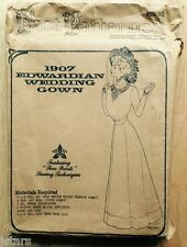 1907 EDWARDIAN WEDDING GOWN SEWING PATTERN, DOWNTON ABBEY, SIZE 10 12 14 16