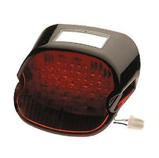BLACK/RED LAYDOWN LAY LED TAILLIGHT BRAKE LIGHT HARLEY FXD SUPER GLIDE 1999-2013