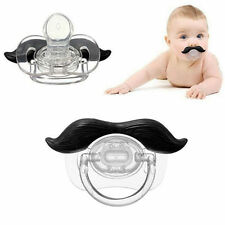 Cute Mustache Baby Boy Girl Infant Pacifier Orthodontic Dummy Beard Nipples Toy