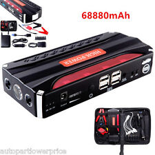 68800mAh 4USB Car Jump Starter Power Bank  Emergency Charger Booster Battery 12V