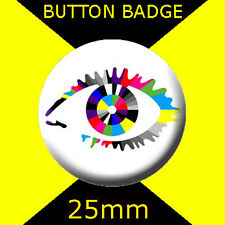 BIG BROTHER EYE  -   CULT TV -  BUTTON BADGE 25mm