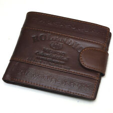 Vintage Mens Leather Clutch Wallets Credit Card Holders Zipper Pocket Purse