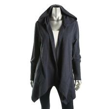 Style & Co. 8373 Womens Blue Knit Hooded Cardigan Sweater Athletic L BHFO