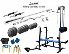 Protoner 100 KG  20 in 1 bench weight lifting home gym fitness pack