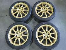JDM 05-07 Subaru WRX STI EJ207 V9 OEM Gold Wheels, Rims, 5X114.3 Mags 17'' Tires