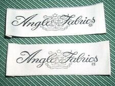 "Vintage Clothing Labels Tags Lot of 2 ""Anglo Fabrics"" New Old Stock NICE"
