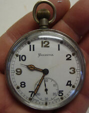 WW2 Helvetia GS/TP P65271 military pocket watch
