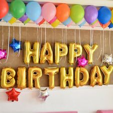 13Pcs Letters Happy Birthday Aluminum Foil Membrane Balloons Children Party Deco