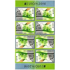 Azerbaiyán Azerbaijan Europa cept 2016, medio ambiente/think Green, MH-arco **