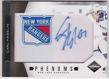 2011-2012 Panini Limited Phenoms Carl Hagelin Rookie Autograph #533/598