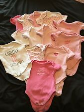 Bundle of 13 baby girl vests size 0-3 months