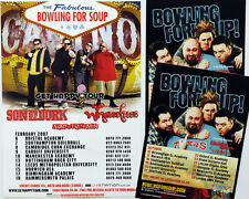 BOWLING FOR SOUP TOUR FLYERS X 3 - GET HAPPY 2007 TOUR & 2011 UK TOUR