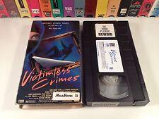 Victimless Crimes Crime Thriller VHS 1990 Craig Bierko Debra Sandlund Heist Film