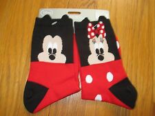 New Licensed Japan Anime Disney Store Mickey & Minnie Mouse Socks US Size 5-10
