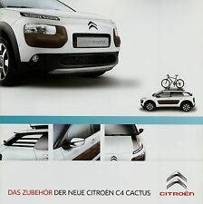 Prospetto CITROËN c4 CACTUS ACCESSORI 2014 opuscolo CITROEN brochure ACCESSORI