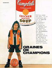 PUBLICITE ADVERTISING 094  1996 RALPH LAUREN  POLO enfants  Campbells  soup