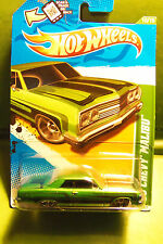 Hot Wheels Treasure Hunt 1965 '65 Dk Green Chevy Malibu Black Flared Lines 2012