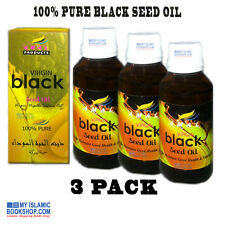 VIRGIN BLACK SEED OIL 100% PURE  COLD PRESSED NIGELLA SATIVA OIL 100ml PACK OF 3
