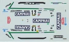 LANCIA DELTA HF TURBO CAMPARI  DEL ZOPPO  RALLY MONTE CARLO 1988 DECALS 1/43
