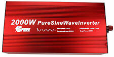2000W/4000W Peak PURE SINE WAVE POWER INVERTER WITH DISPLAY DC12V-AC240V