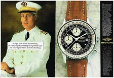 Publicité Advertising 1988 (2 pages) La Montre Breitling Old Navitimer