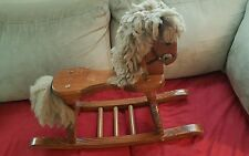 VINTAGE  WOODEN ROCKING HORSE 23 inches tall x 29 inches long 10 inches wide.