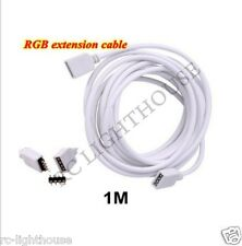 3 ft or 1m White Extension for RV LED Light strips 3528 and 5050 4 Pin