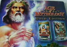 Age of Mythology Gold Edition 2 Disc Set PC - CD Rom Software Game Windows Comp