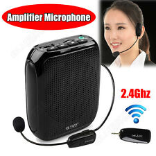 Mini Waistband Loud Voice Booster 10W Amplifier+2.4G Wireless Headset Microphone