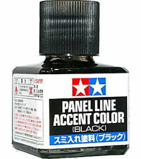 TAMIYA 87131 Panel Line Accent Color Black For Plastic Model Kit NEW