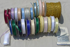 Lot Spool O' Ribbon Offray Crafts Sewing Trim Floral Variety Colors Sizes