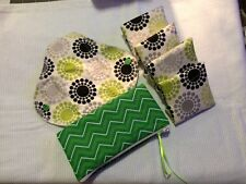 Set/6 Reusable Menstrual Pads [youth] NWOT Momma Cloth- Green burst