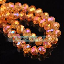 100pcs 3mm Rondelle Faceted Crystal Glass Charms Loose Spacer Beads Findings